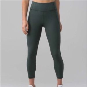 Lululemon green 7/8 leggings